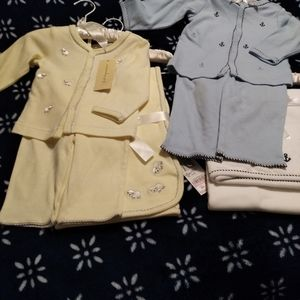 Infant Layette Set with matching blanket